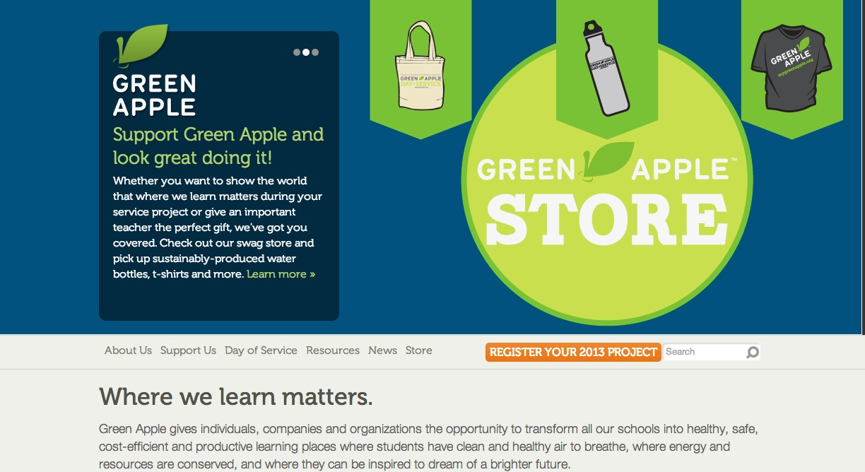 Second annual green apple day of service recognized in for Advantages of leed certification