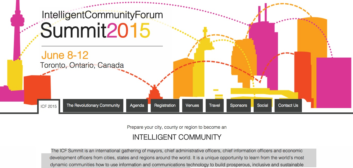 Intelligent Communities Forum website