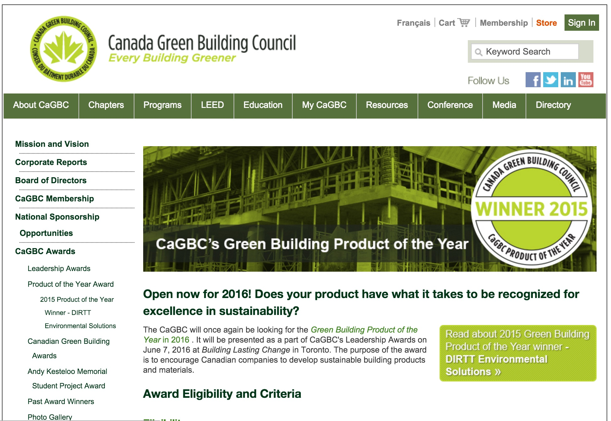 cagbc product of the year