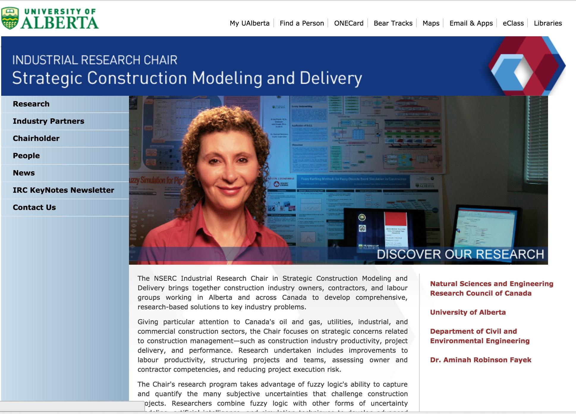 u of alberta construction research