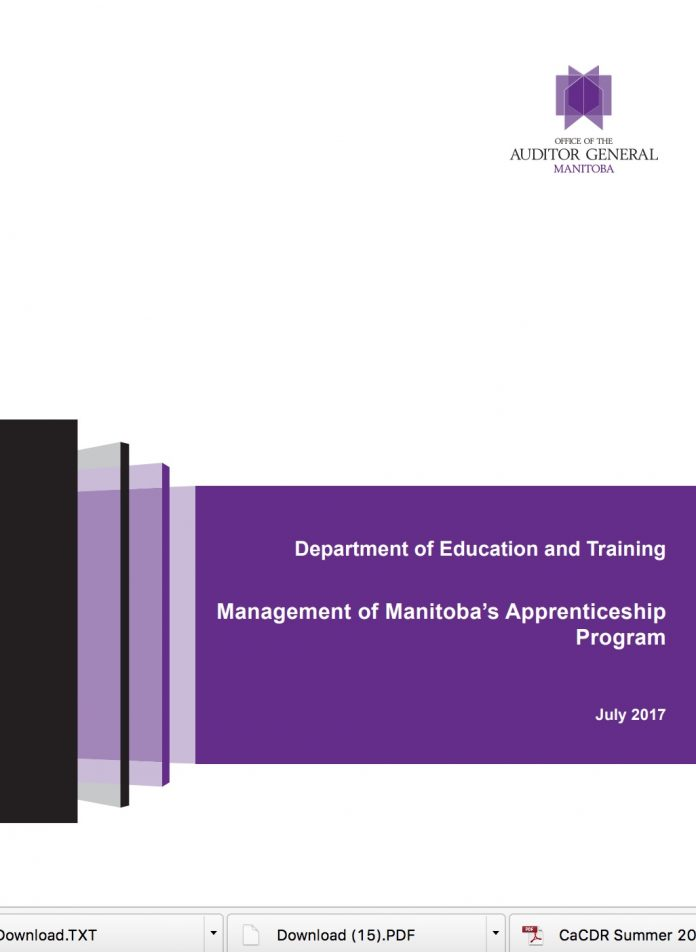 AG report apprenticeship manitoba